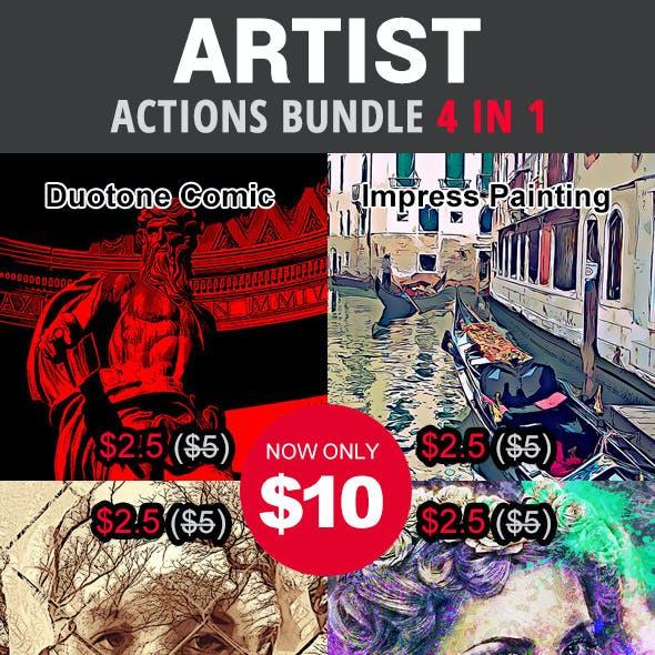 Artist Actions Bundle 4 in 1