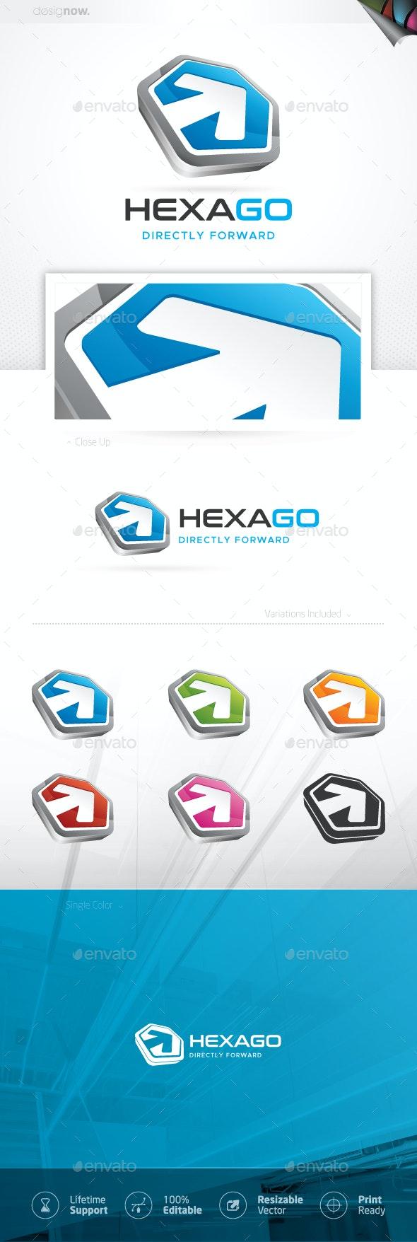 Hexagon Arrow Logo - Company Logo Templates