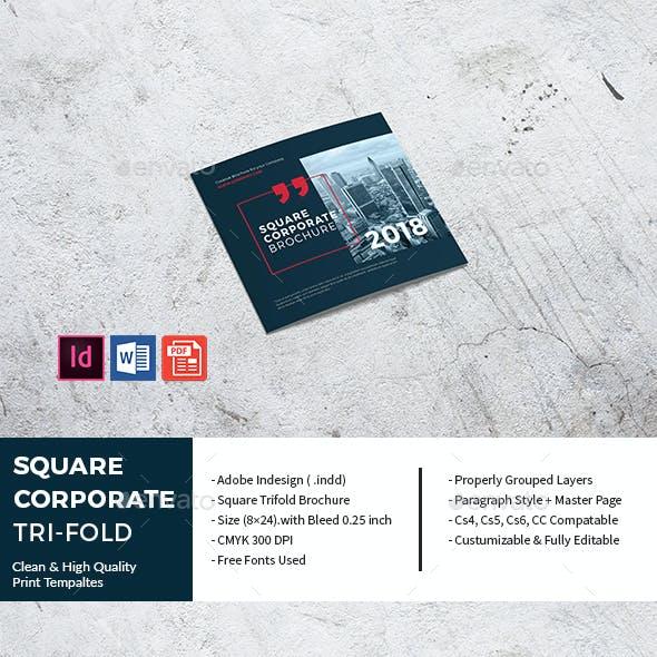 Square Corporate Tri-Fold