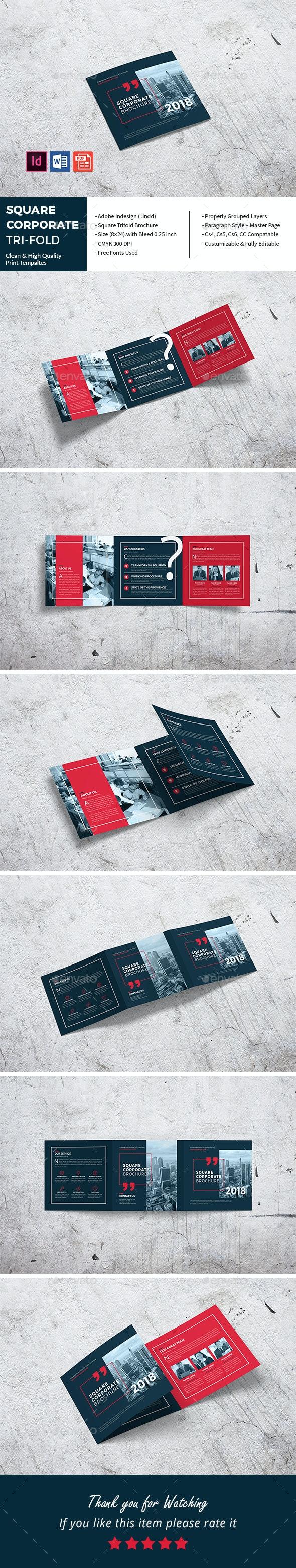 Square Corporate Tri-Fold - Corporate Brochures