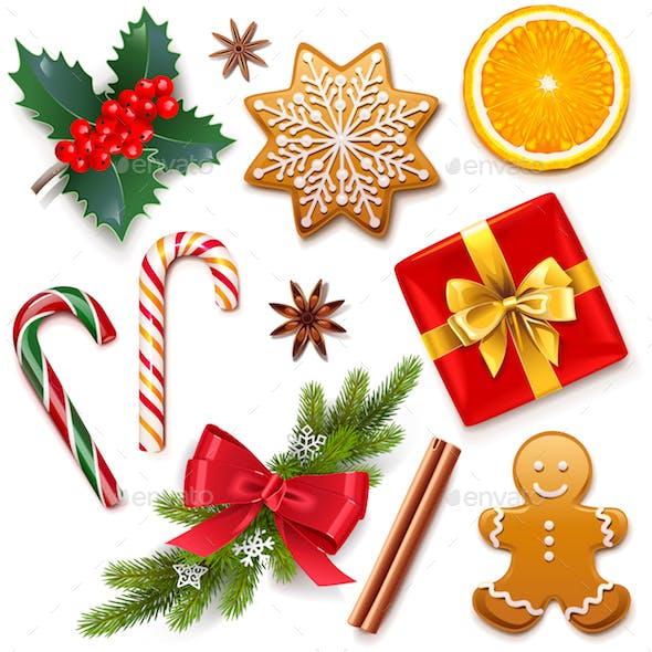 Vector Christmas Symbol Icons