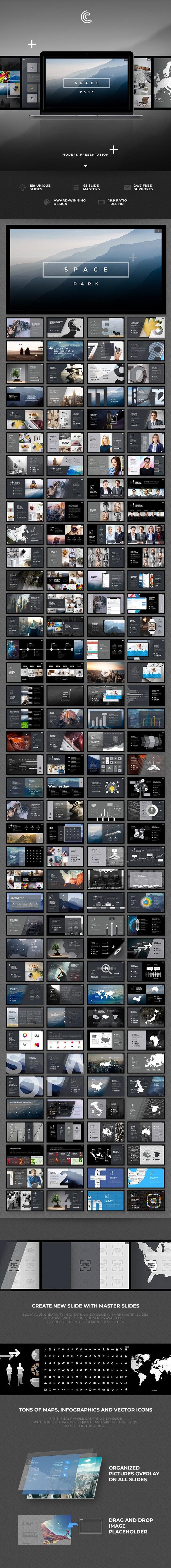 Space Dark PowerPoint - PowerPoint Templates Presentation Templates