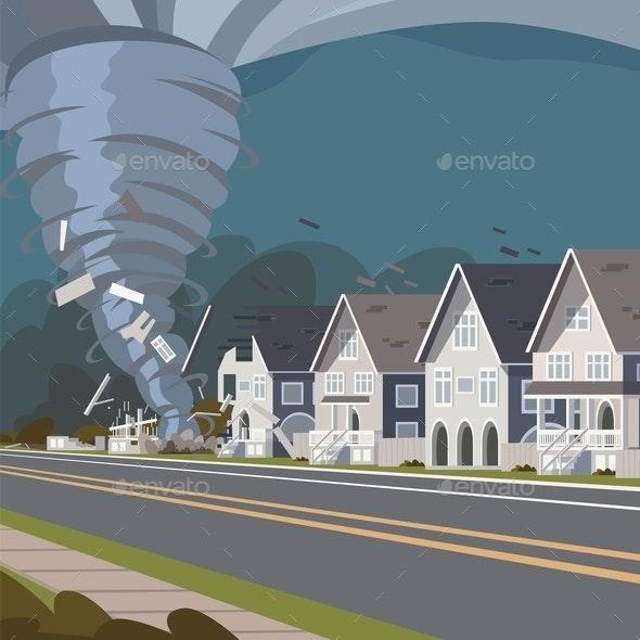 Destructive Storm Image - Miscellaneous Vectors