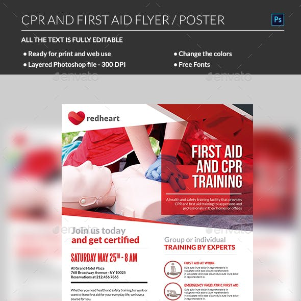 CPR Training Flyer Template