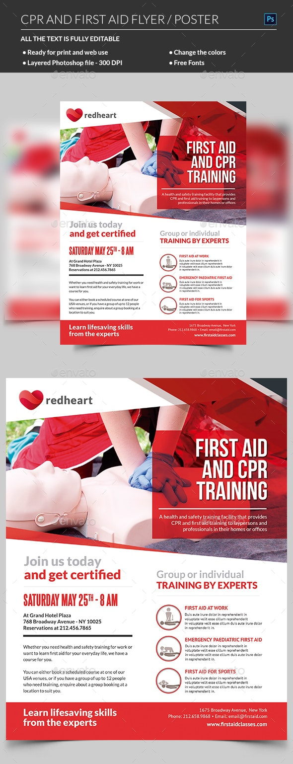 CPR Training Flyer Template - Corporate Flyers