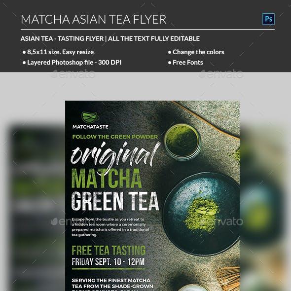 Matcha Asian Tea Flyer