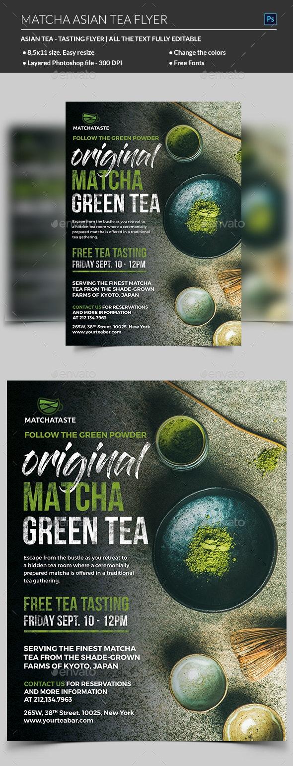 Matcha Asian Tea Flyer - Restaurant Flyers