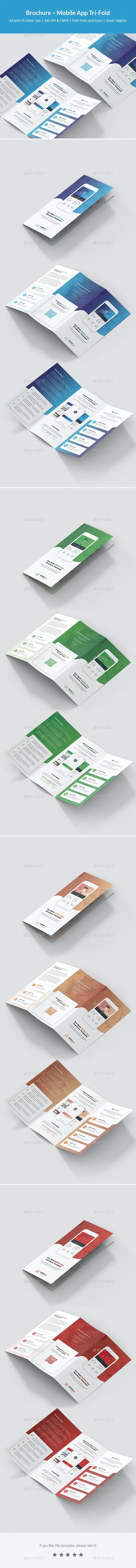 Brochure – Mobile App Tri-Fold - Informational Brochures