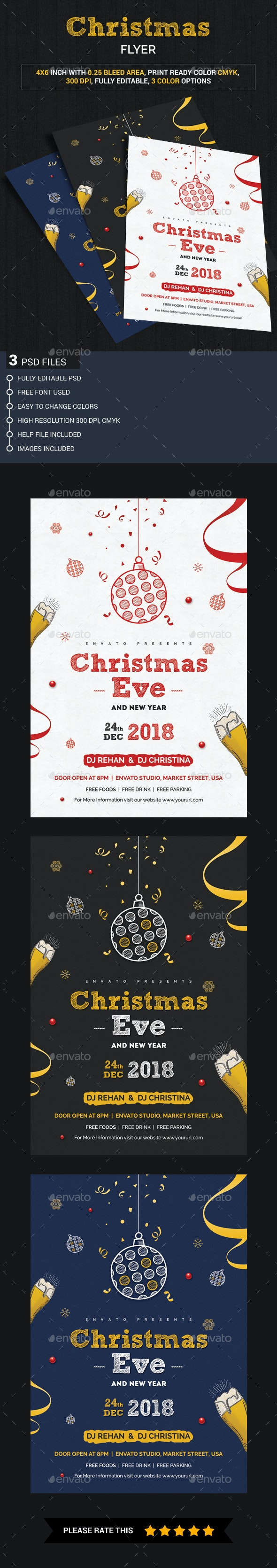 Christmas Eve Party Flyer - Clubs & Parties Events