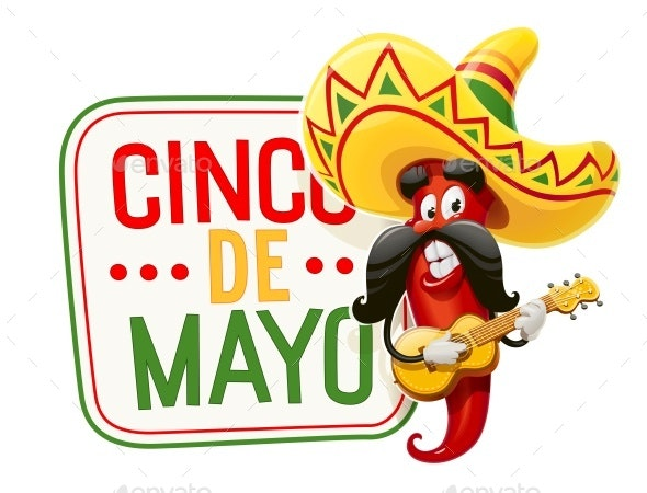 Red Pepper Character for Cinco De Mayo - Miscellaneous Seasons/Holidays