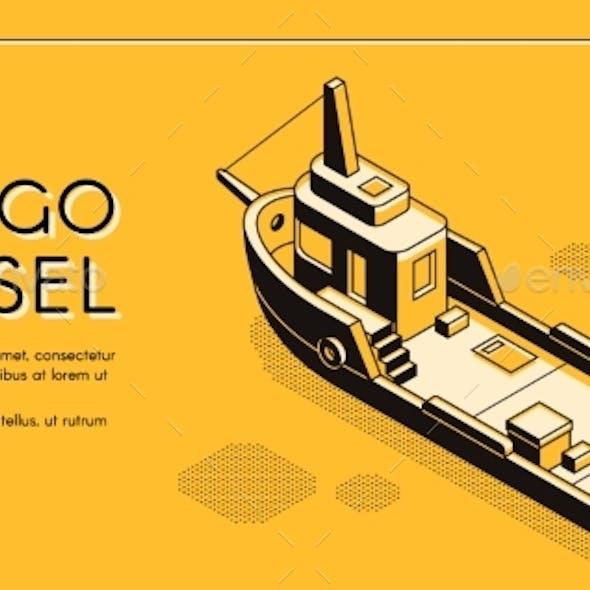 Cargo Maritime Transport Company Website Vector