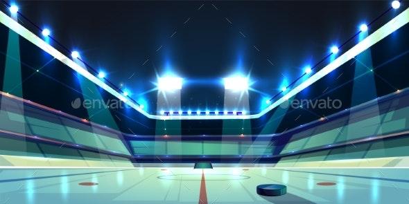 Vector Hockey Arena - Backgrounds Decorative
