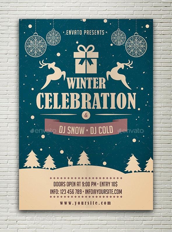 Winter Celebration Flyer - Holidays Events