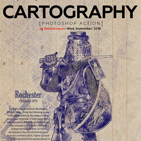 Cartography Photoshop Action