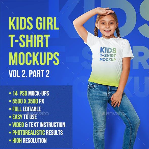 Kids Girl T-Shirt Mockups Vol 2. Part 2