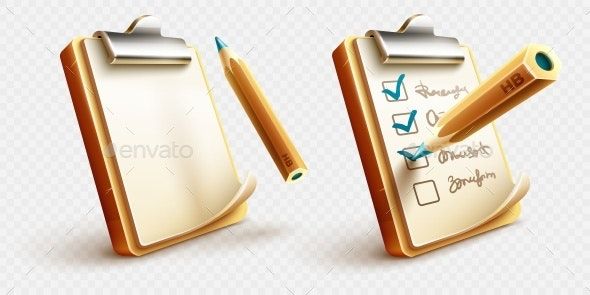 Icons of Checklist - Miscellaneous Vectors