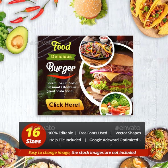 Business Food Restaurant Banner Ads