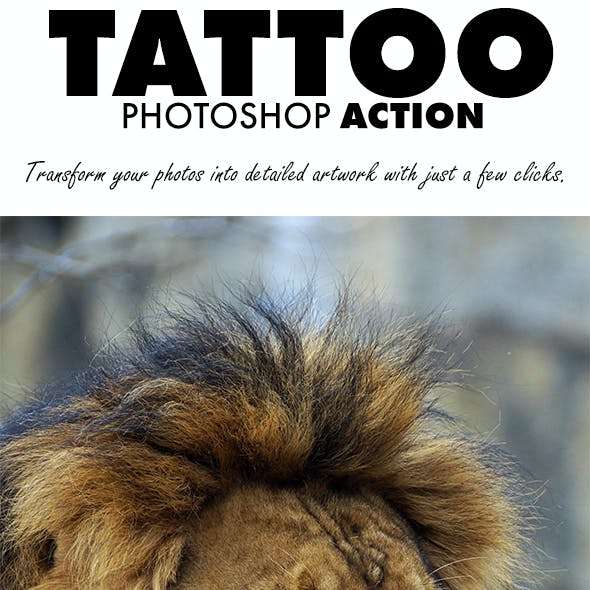 Tattoo Photoshop Action