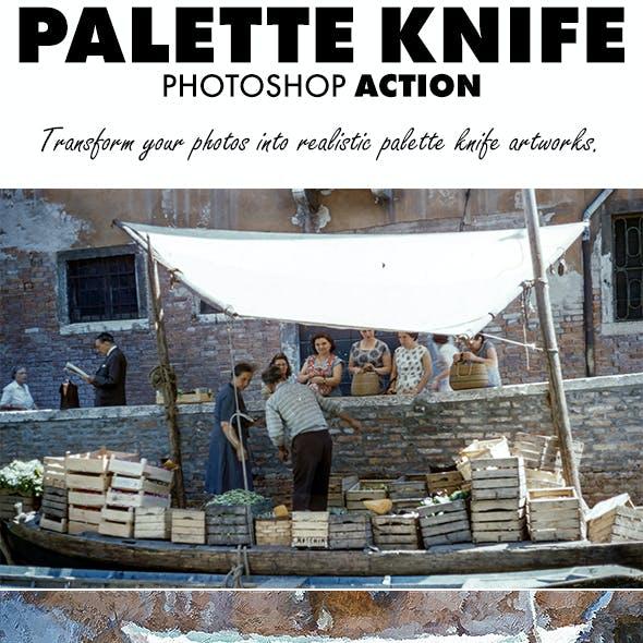 Palette Knife Photoshop Action