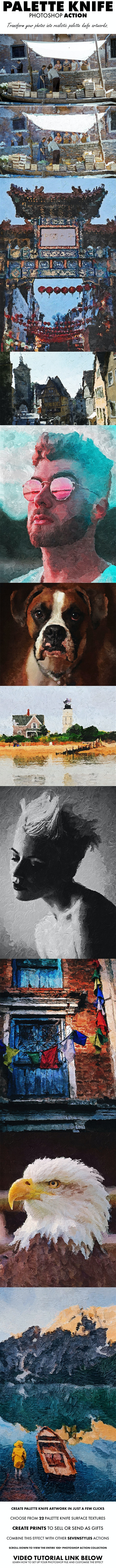 Palette Knife Photoshop Action - Photo Effects Actions