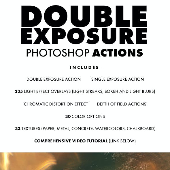 Double Exposure Photoshop Actions