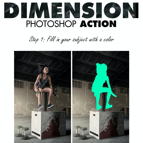 Dimension Photoshop Action
