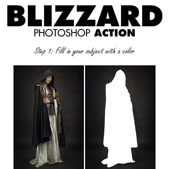 Blizzard Photoshop Action
