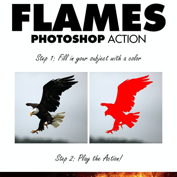 Flames Photoshop Action