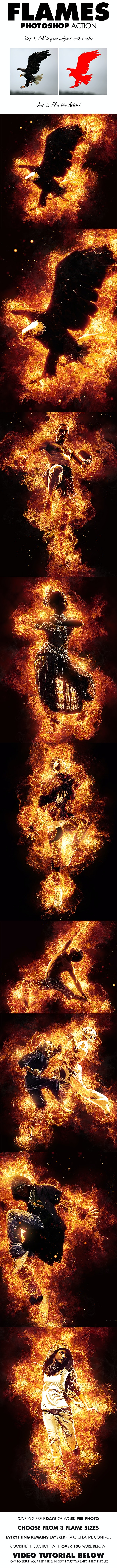 Flames Photoshop Action - Photo Effects Actions