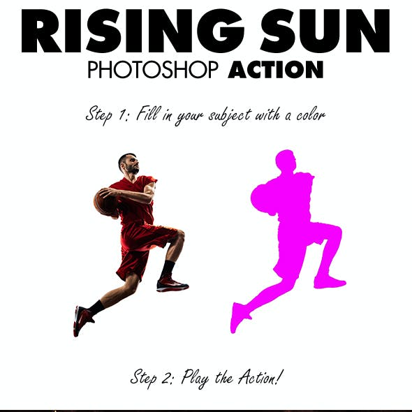 Rising Sun Photoshop Action
