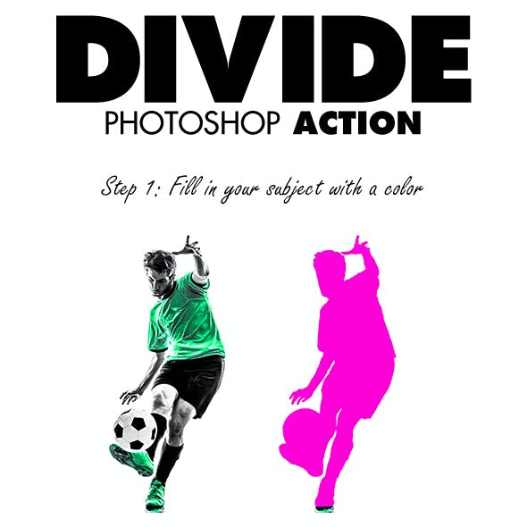Divide Photoshop Action