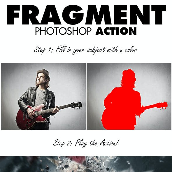 Fragment Photoshop Action