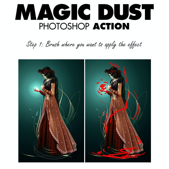 Magic Dust Photoshop Action