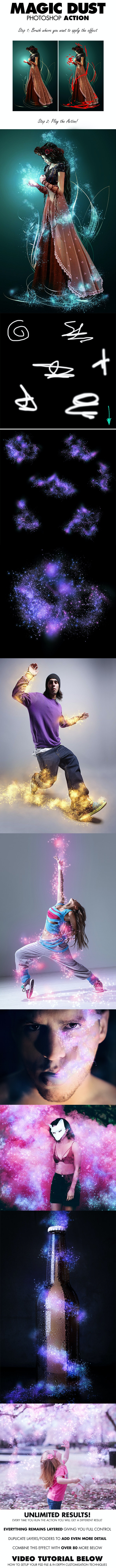 Magic Dust Photoshop Action - Photo Effects Actions