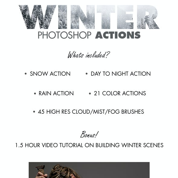 Winter Photoshop Actions