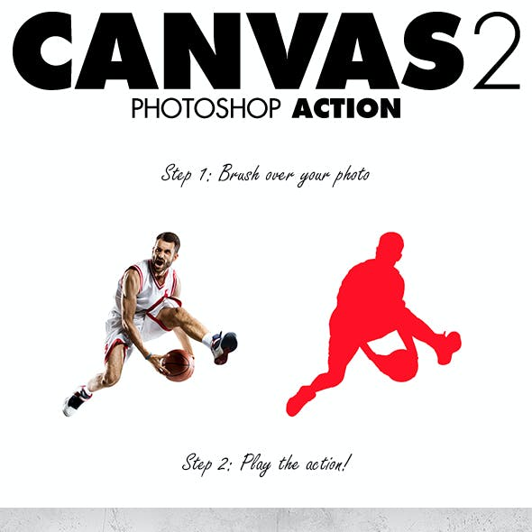 Canvas 2 Photoshop Action