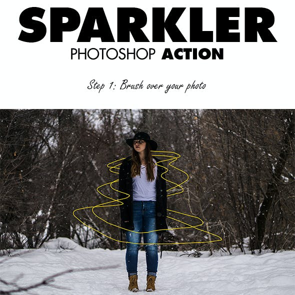 Sparkler Photoshop Action