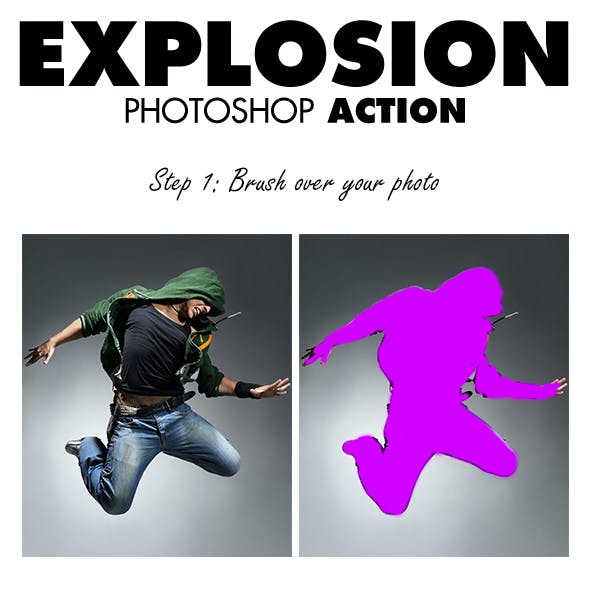 Explosion Photoshop Action
