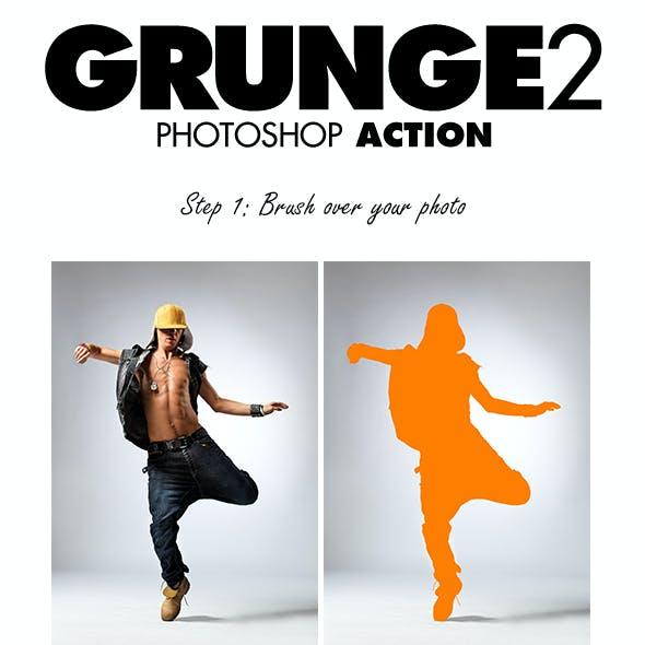 Grunge 2 Photoshop Action