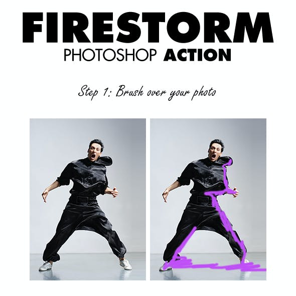 FireStorm Photoshop Action