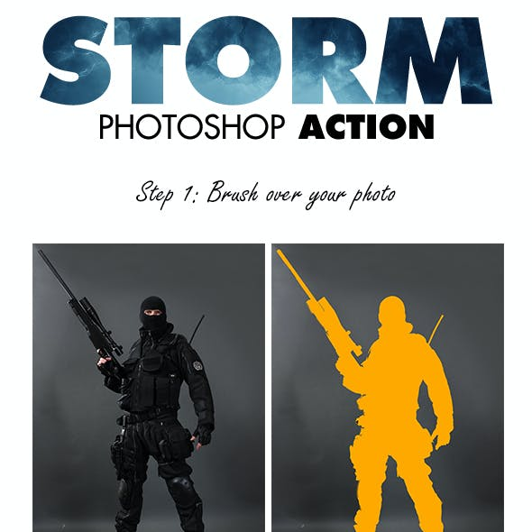 Storm Photoshop Action