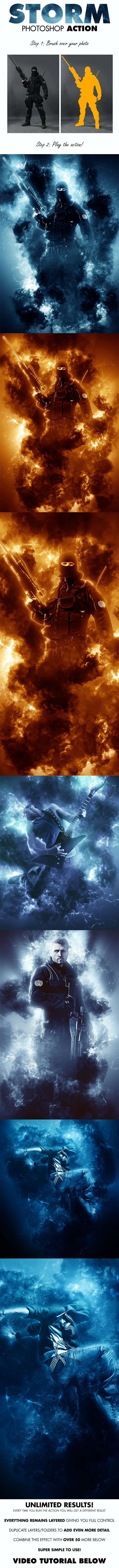 Storm Photoshop Action - Photo Effects Actions