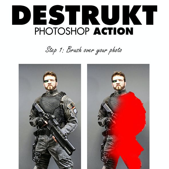 Destrukt Photoshop Action