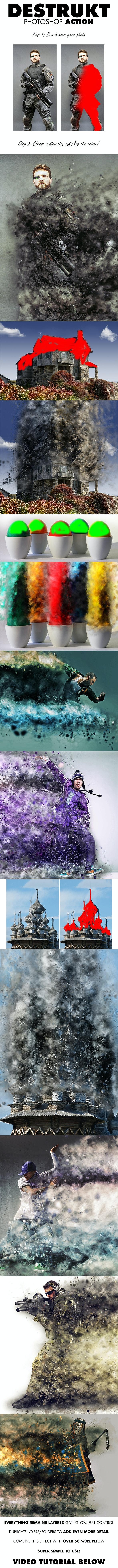 Destrukt Photoshop Action - Photo Effects Actions