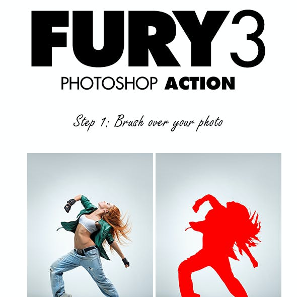 Fury 3 Photoshop Action