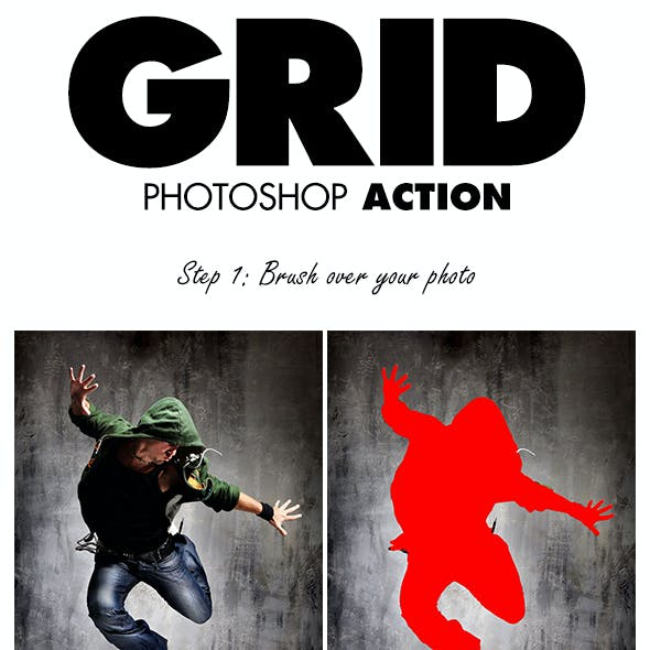Grid Photoshop Action
