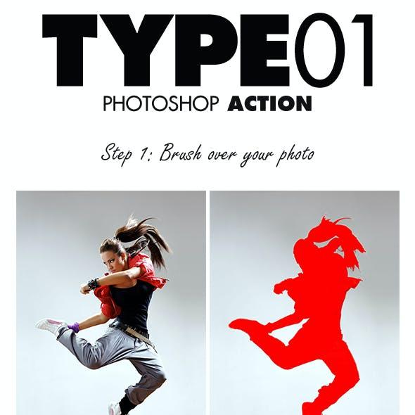 Type01 Photoshop Action
