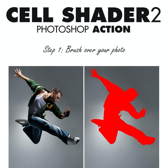 Cell Shader 2 Photoshop Action