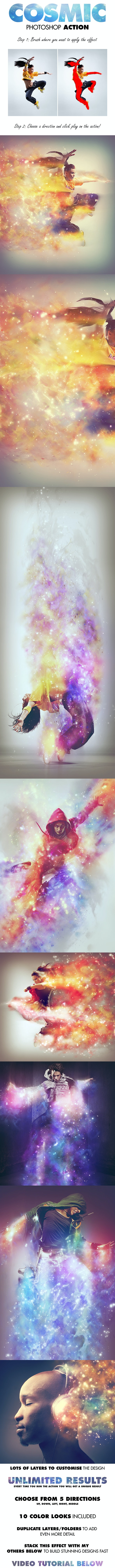 Cosmic Photoshop Action - Photo Effects Actions