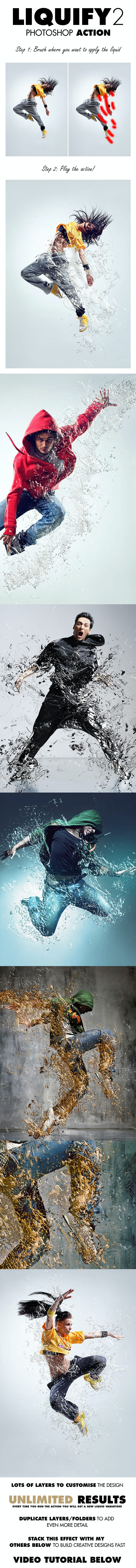 Liquify 2 Photoshop Action - Photo Effects Actions
